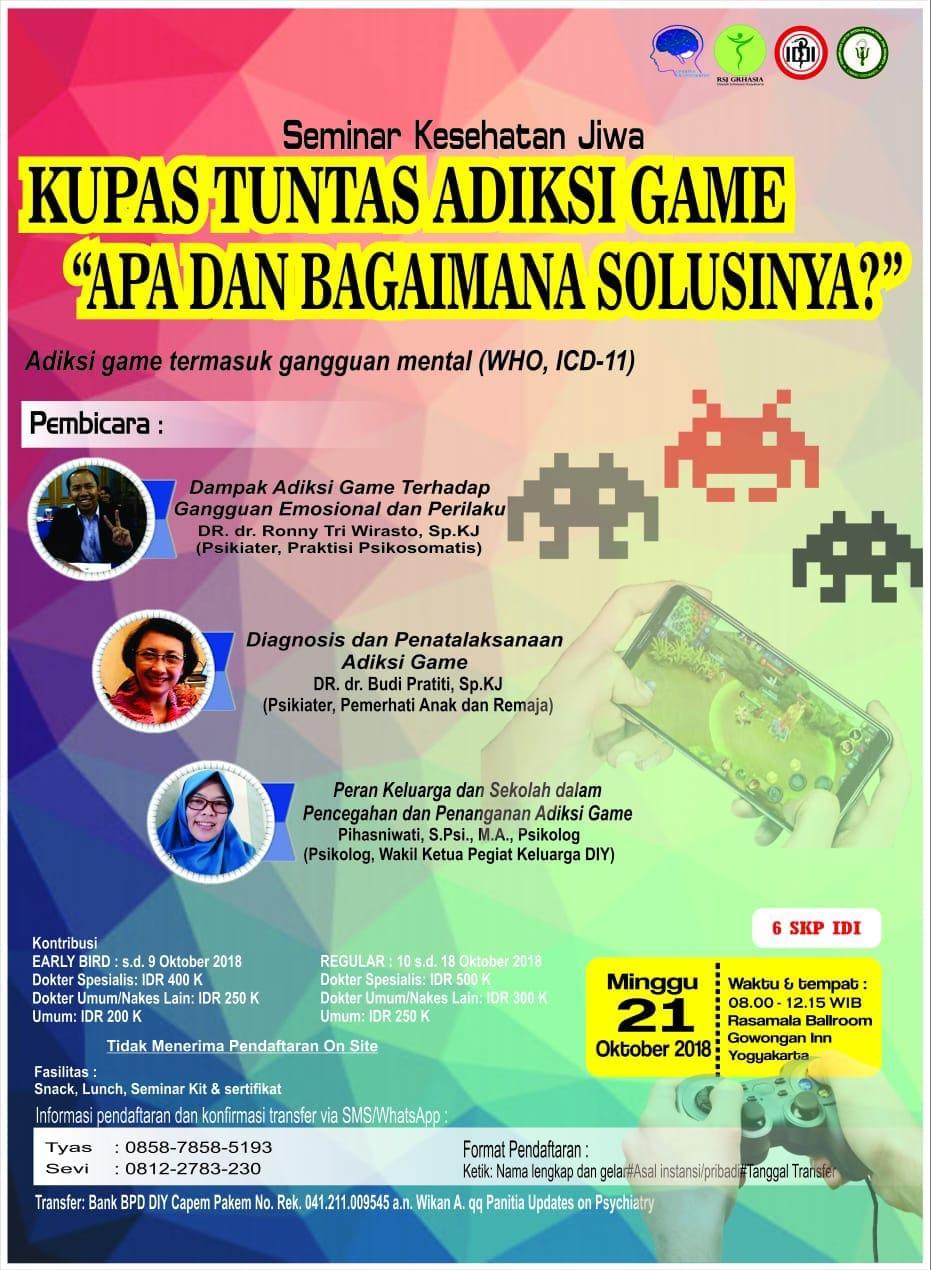 Seminar Kesehatan Jiwa Kecanduan Terhadapa Game Dan Internet Pada Anak